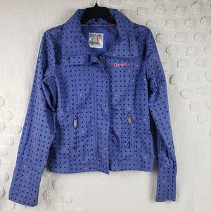 Bench Blue Black & Pink Dot Easy Jacket size 8